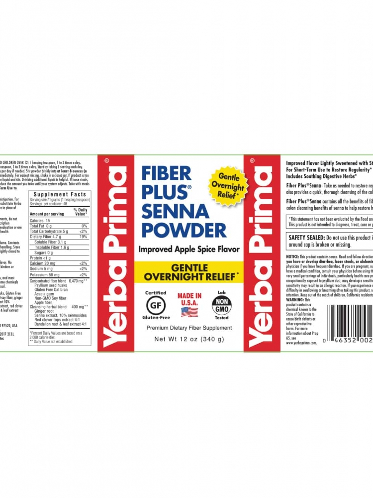 Fiber Plus Senna Powder [Improved Apple Spice Flavor]