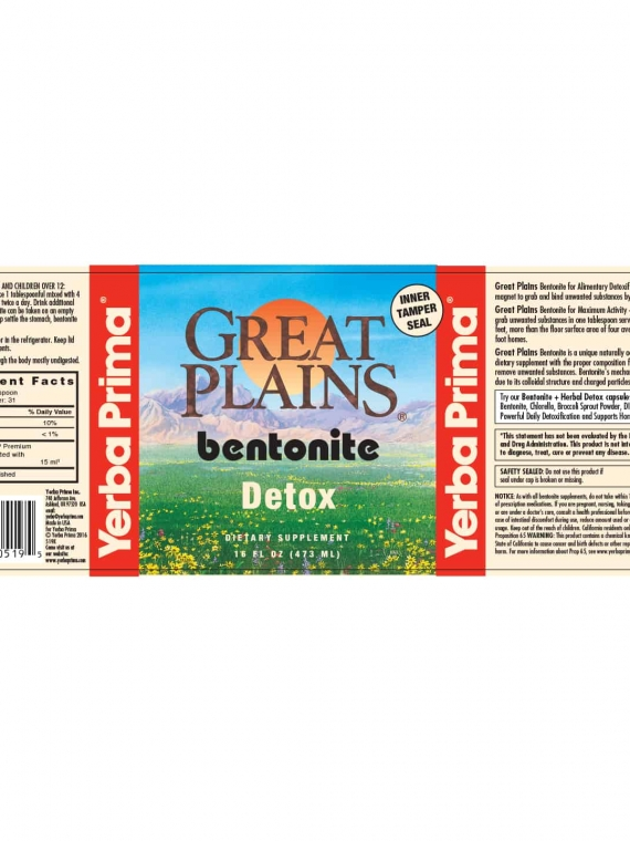 Yerba Prima Bentonite (Pint)