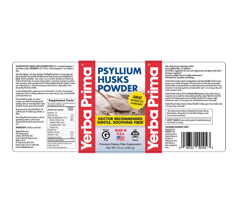 Psyllium Husks Powder – Yerba Prima