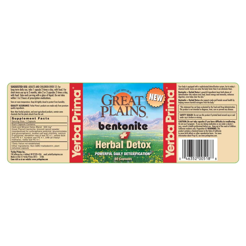 Bentonite Herbal Detox Yerba Prima
