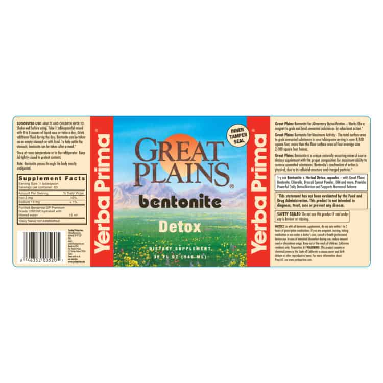 Yerba Prima Great Plains Bentonite 32 oz (Quart)